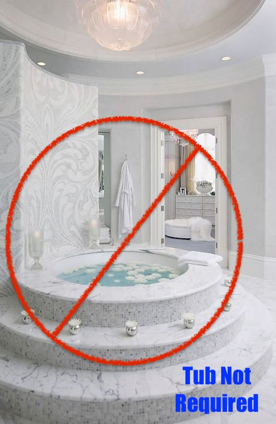 Tub in the master is not necessary