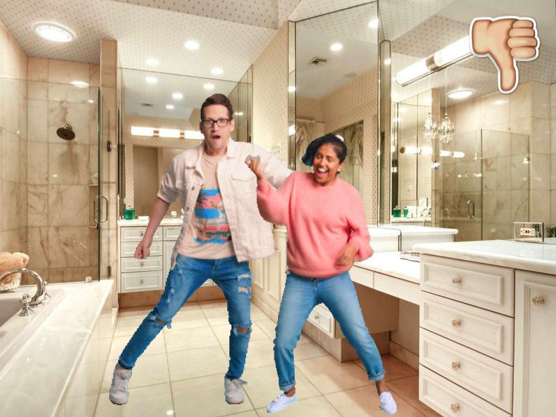 Bathroom big enough to dance in