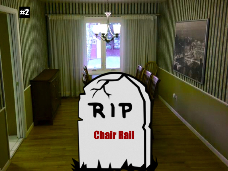 Chair rails are usually wrong
